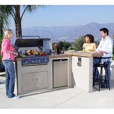 bull outdoor s luxury q l shaped bbq island with 4 burner angus gas grill single horizontal