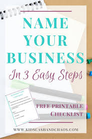 Names Of Cleaning Businesses How To Name Your Business In Three Easy Steps Best Of Emma Lee