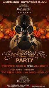 thanksgiving party flyer the church event flyers