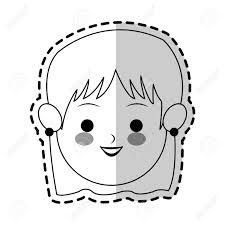 フリンジかわいい漫画アイコン画像ベクトル イラスト デザインで女性の顔