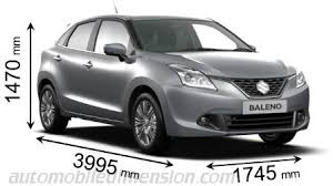 Baleno Size Chart Suzuki Baleno 2016 Dimensions Boot Space And Interior
