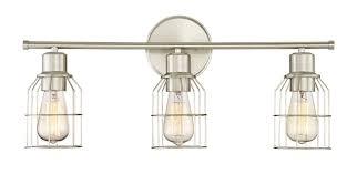 trade winds 3 light wire bath bar in brushed nickel bath lights wall lights
