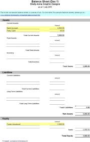 simple balance sheet example simple balance sheet template for microsoft excel beautiful