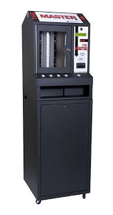 Used Pull Tab Vending Machines Interesting Black Master 48 Column Lottery Pull Tab Vending Machine EBay
