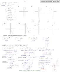 solving exponential equations by graphing worksheet tessshlo