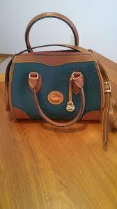 vintage dooney bourke all weather leather satchel