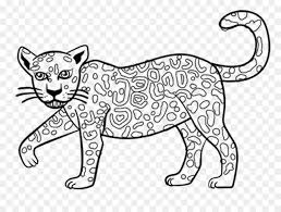 jaguar coloring book child drawing jaguar