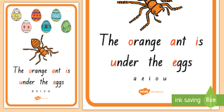 New Short Vowel Anchor Chart A4 Display Poster Dyslexia