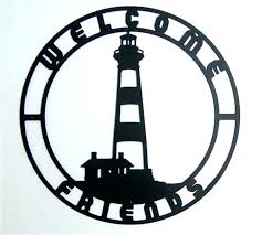 2 nautical metal wall art image 1 coastal island lighthouse outdoor x629 sightly