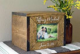 Picture Frame Box Personalized Wedding Card Box Wedding Card Box Wedding