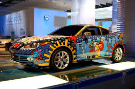 La Auto Show Fingerpainting With Billy On The Hyundai Tiburon