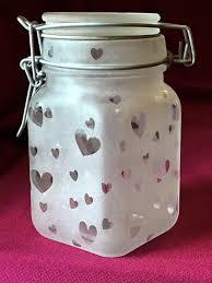 elise berry sandblasted glass jar