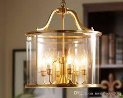large vintage brass pendant lamp for