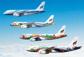 Bangkok Airways is a full service airline offering quality boutique style  air travel, flights operate from Bangkok BKK Suvar…   Bangkok, Aircraft,  Airplane painting