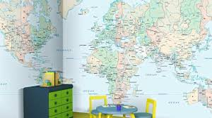 World Map Home Decor Vintage World Map Wallpaper Home Dccor Thestorecom Youtube