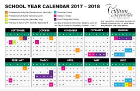 year calender school year calendar trillium lakelands district school board