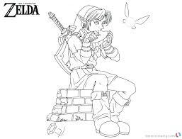 Minimalist Princess Zelda Coloring Pages P4813 Coloring Pages