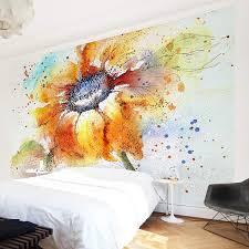 Apalis Vliestapete Blumentapete Painted Sunflower Fototapete Breit