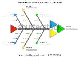 Casue And Effect Cause Effect Fishbone Diagram Vector Infographic Stock Vector