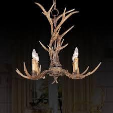 deer horn antler chandelier 4lt