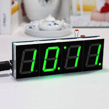 geekcreit diy 4 digit led electronic clock kit temperature light control version clocks diy electronics and arduino