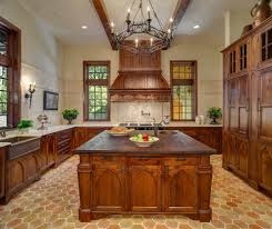 Kitchens With Brick Floors Arched Kitchen Cabinets Kitchen Traditional With Appliance