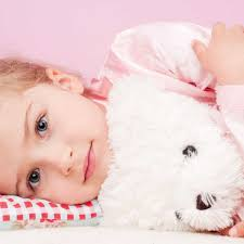 blonde child toy teddy bear