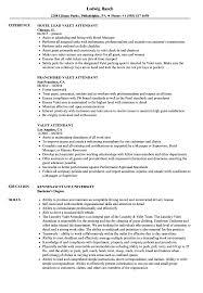 Valet Parking Resume Sample Valet Attendant Resume Samples Velvet Jobs 18
