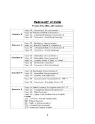 subjects of economics honors in graduation student forum here i am attaching a pdf of syllabus of graduation in economics offered by university of delhi
