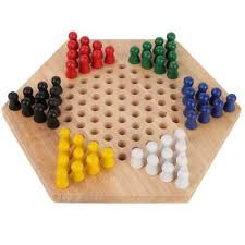 wooden educational board kids children classic chinese checkers set family game