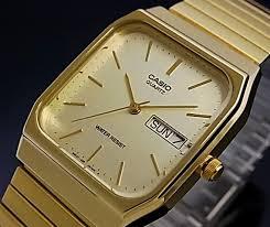 bright rakuten global market casio men watch analog quartz gold casio casio mens analog quartz