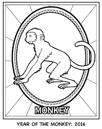 Small Picture Chinese New Year Year of the Monkey Coloring Page crayolacom