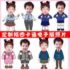 Chibi-Z8, Bộ 68 JPG + PNG mẫu hoạt hình Chibi ghép đầu trẻ em đơn giản –  Thư viện PSD