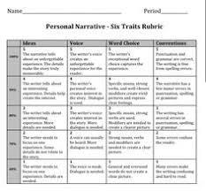 video example and personal narrative essay sample dream job six traits writing personal narrative rubric 4th grade google search