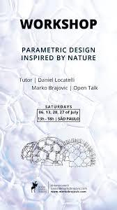 Parametric Design Workshop 2018 Models By Nature Parametric Architecture