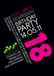 Design Your Own 18th Birthday Invitations 18th Birthday Invitation Idea 18th Birthday Invites