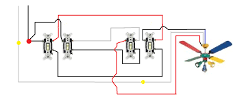 3 way switch wiring diagram multiple lights to ceiling fan light throughout how wire a with