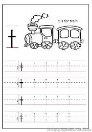 Lowercase letter T Worksheets Kindergarten and 1'st grade - t is ...