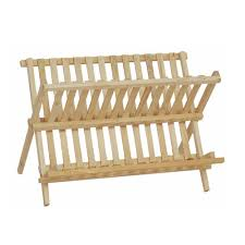 timber dish rack holder drying drainer storage organizer wooden plate wooden new
