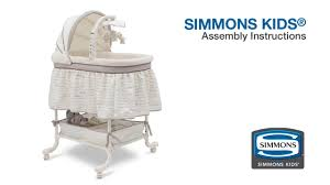 simmons crib parts. amazing simmons kids slumber time gliding bassinet assembly video with simplicity crib parts