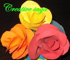 How To Make Hat With Chart Paper Paper Roses In A Vase Creativesaga