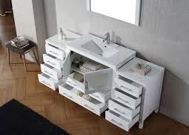 Single white bathroom vanities Sink Bathroom Virtu Usa Dior 72 Single Bathroom Vanity Set In White Bathtubs Plus Virtu Usa Dior 72 Single Bathroom Vanity Set In White Bathtubs Plus