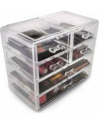 International Acrylic Drawer Makeup Organizer with Removable Drawers (2  large and 4 small drawers)