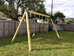 the kids really love playing on this diy swing set and it gets us outside more than we ve been in months