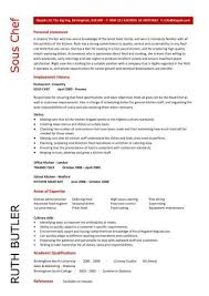 Chef Resume Template Stunning Chef Resume Sample Examples Sous Chef Jobs Free Template Chefs