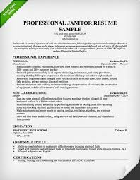 Janitor Resume Sample | Download this resume sample to use as a template  for writing your