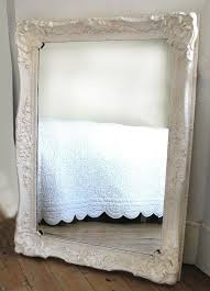 antique white mirror french style brocante distressed wooden frame large 3 5 x 2 5