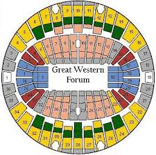 Great Western Forum Seating Chart Related Keywords
