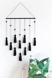 diy modern tassel wall hanging homey