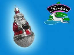 Weihnachtsmann Mit Glimmer Nostalgie Christbaumschmuck